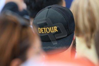 World © Octane Photographic Ltd. Fan with detour hat. Friday 5th June 2015, F1 Canadian GP Practice 2, Circuit Gilles Villeneuve, Montreal, Canada. Digital Ref: 1292LB7D0270