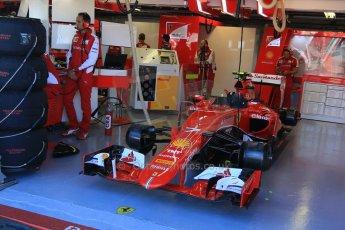 World © Octane Photographic Ltd. Scuderia Ferrari SF15-T– Kimi Raikkonen. Saturday 6th June 2015, F1 Canadian GP Practice 3 pitlane, Circuit Gilles Villeneuve, Montreal, Canada. Digital Ref: 1295CB7D0742