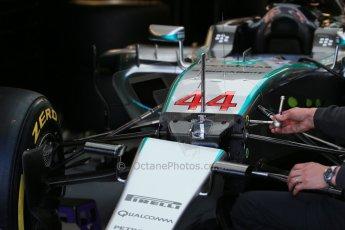 World © Octane Photographic Ltd. Mercedes AMG Petronas F1 W06 Hybrid – Lewis Hamilton. Saturday 6th June 2015, F1 Canadian GP Practice 3 pitlane, Circuit Gilles Villeneuve, Montreal, Canada. Digital Ref: 1295LB1D0744