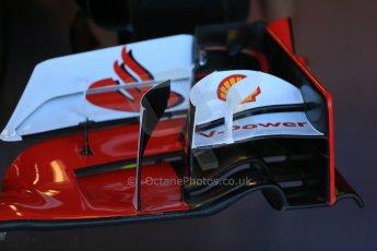World © Octane Photographic Ltd. Scuderia Ferrari SF15-T front wing detail. Saturday 6th June 2015, F1 Canadian GP Practice 3 pitlane, Circuit Gilles Villeneuve, Montreal, Canada. Digital Ref: 1295LB1D0994