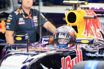 World © Octane Photographic Ltd. Infiniti Red Bull Racing RB11 – Daniil Kvyat. Saturday 6th June 2015, F1 Canadian GP Practice 3 pitlane, Circuit Gilles Villeneuve, Montreal, Canada. Digital Ref: 1295LB1D1192