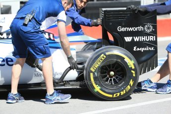 World © Octane Photographic Ltd. Williams Martini Racing FW37. Saturday 6th June 2015, F1 Canadian GP Practice 3 pitlane, Circuit Gilles Villeneuve, Montreal, Canada. Digital Ref: 1295LB1D1204