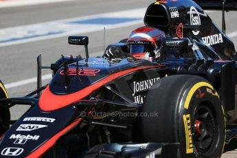 World © Octane Photographic Ltd. McLaren Honda MP4/30 - Jenson Button. Saturday 6th June 2015, F1 Canadian GP Practice 3 pitlane, Circuit Gilles Villeneuve, Montreal, Canada. Digital Ref: 1295LB1D1288