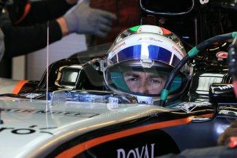 World © Octane Photographic Ltd. Sahara Force India VJM08 – Sergio Perez. Saturday 6th June 2015, F1 Canadian GP Practice 3 pitlane, Circuit Gilles Villeneuve, Montreal, Canada. Digital Ref: 1295LB1D1394