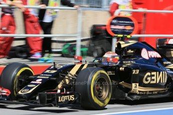 World © Octane Photographic Ltd. Lotus F1 Team E23 Hybrid – Pastor Maldonado. Saturday 6th June 2015, F1 Canadian GP Practice 3 pitlane, Circuit Gilles Villeneuve, Montreal, Canada. Digital Ref: 1295LB1D1506