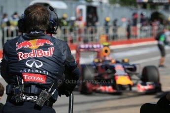 World © Octane Photographic Ltd. Infiniti Red Bull Racing RB11 – Daniil Kvyat. Saturday 6th June 2015, F1 Canadian GP Practice 3 pitlane, Circuit Gilles Villeneuve, Montreal, Canada. Digital Ref: 1295LB1D1569