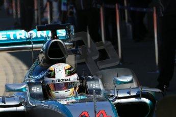 World © Octane Photographic Ltd. Mercedes AMG Petronas F1 W06 Hybrid – Lewis Hamilton. Saturday 6th June 2015, F1 Canadian GP Practice 3 pitlane, Circuit Gilles Villeneuve, Montreal, Canada. Digital Ref: 1295LB1D1666