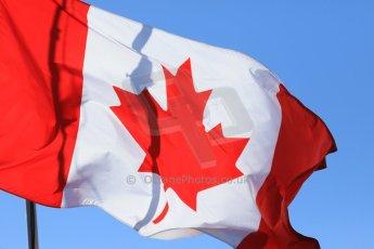 World © Octane Photographic Ltd. Canadian Flag. Saturday 6th June 2015, F1 Canadian GP Paddock, Circuit Gilles Villeneuve, Montreal, Canada. Digital Ref: 1294LB7D0332