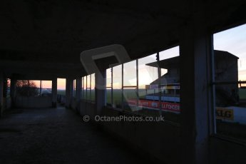 World © Octane Photographic Ltd. 7th February 2015 dawn visit to the pit buildings at the Reims-Gueux abandoned track, last used for Formula 1 in 1966. Digital Ref : 1185CB1D4674