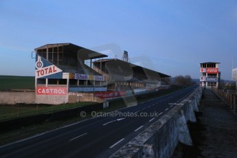 World © Octane Photographic Ltd. 7th February 2015 dawn visit to the pit buildings at the Reims-Gueux abandoned track, last used for Formula 1 in 1966. Digital Ref : 1185CB1D4694