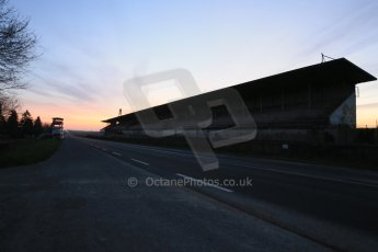 World © Octane Photographic Ltd. 7th February 2015 dawn visit to the pit buildings at the Reims-Gueux abandoned track, last used for Formula 1 in 1966. Digital Ref : 1185CB1D4724
