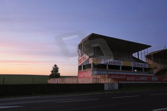 World © Octane Photographic Ltd. 7th February 2015 dawn visit to the pit buildings at the Reims-Gueux abandoned track, last used for Formula 1 in 1966. Digital Ref : 1185CB1D4734