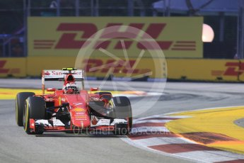World © Octane Photographic Ltd. Scuderia Ferrari SF15-T– Kimi Raikkonen. Friday 18th September 2015, F1 Singapore Grand Prix Practice 1, Marina Bay. Digital Ref: