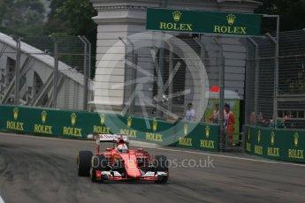 World © Octane Photographic Ltd. Scuderia Ferrari SF15-T– Sebastian Vettel. Friday 18th September 2015, F1 Singapore Grand Prix Practice 1, Marina Bay. Digital Ref: 1428LB1D4611