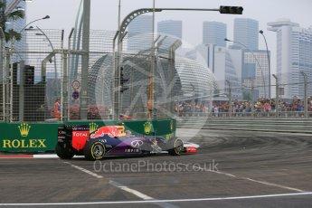 World © Octane Photographic Ltd. Infiniti Red Bull Racing RB11 – Daniil Kvyat. Friday 18th September 2015, F1 Singapore Grand Prix Practice 1, Marina Bay. Digital Ref:
