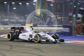 World © Octane Photographic Ltd. Williams Martini Racing FW37 – Felipe Massa. Friday 18th September 2015, F1 Singapore Grand Prix Practice 2, Marina Bay. Digital Ref: 1429CB5D0300