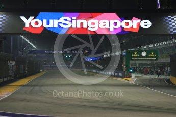 World © Octane Photographic Ltd. Start / Finish straight. Friday 18th September 2015, F1 Singapore Grand Prix Practice 2, Marina Bay. Digital Ref: 1429CB5D0422