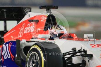 World © Octane Photographic Ltd. Manor Marussia F1 Team MR03B – William Stevens. Friday 18th September 2015, F1 Singapore Grand Prix Practice 2, Marina Bay. Digital Ref: 1429CB7D0317