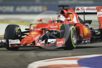 World © Octane Photographic Ltd. Scuderia Ferrari SF15-T– Sebastian Vettel. Friday 18th September 2015, F1 Singapore Grand Prix Practice 2, Marina Bay. Digital Ref: 1429CB7D0342