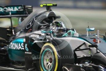 World © Octane Photographic Ltd. Mercedes AMG Petronas F1 W06 Hybrid – Nico Rosberg. Friday 18th September 2015, F1 Singapore Grand Prix Practice 2, Marina Bay. Digital Ref: 1429CB7D0392