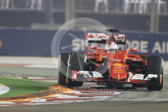 World © Octane Photographic Ltd. Scuderia Ferrari SF15-T– Sebastian Vettel. Friday 18th September 2015, F1 Singapore Grand Prix Practice 2, Marina Bay. Digital Ref: 1429CB7D0480