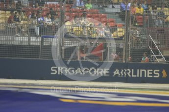 World © Octane Photographic Ltd. Red Flag. Friday 18th September 2015, F1 Singapore Grand Prix Practice 2, Marina Bay. Digital Ref: 1429CB7D0617