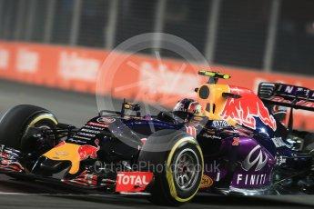 World © Octane Photographic Ltd. Infiniti Red Bull Racing RB11 – Daniil Kvyat. Friday 18th September 2015, F1 Singapore Grand Prix Practice 2, Marina Bay. Digital Ref: 1429LB1D5939