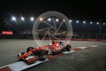 World © Octane Photographic Ltd. Scuderia Ferrari SF15-T– Sebastian Vettel. Friday 18th September 2015, F1 Singapore Grand Prix Practice 2, Marina Bay. Digital Ref: 1429LB1D6511