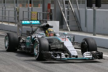World © Octane Photographic Ltd. Mercedes AMG Petronas F1 W06 Hybrid – Pascal Wehrlein. Wednesday 13th May 2015, F1 In-season testing, Circuit de Barcelona-Catalunya, Spain. Digital Ref: 1269CB7D2244