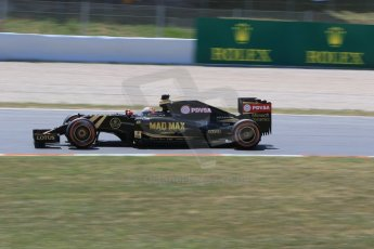 World © Octane Photographic Ltd. Lotus F1 Team E23 Hybrid – Romain Grosjean. Saturday 9th May 2015, F1 Spanish GP Qualifying, Circuit de Barcelona-Catalunya, Spain. Digital Ref: 1257CB7D8032