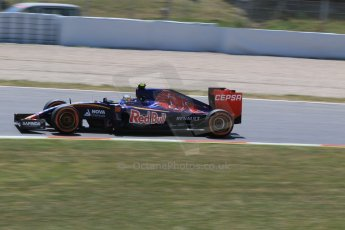World © Octane Photographic Ltd. Scuderia Toro Rosso STR10 – Carlos Sainz Jnr. Saturday 9th May 2015, F1 Spanish GP Qualifying, Circuit de Barcelona-Catalunya, Spain. Digital Ref: 1257CB7D8047