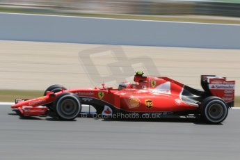 World © Octane Photographic Ltd. Scuderia Ferrari SF15-T– Kimi Raikkonen. Saturday 9th May 2015, F1 Spanish GP Qualifying, Circuit de Barcelona-Catalunya, Spain. Digital Ref: 1257CB7D8297