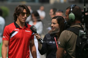 World © Octane Photographic Ltd. Manor Marussia F1 Team MR03 – Roberto Merhi. Sunday 10th May 2015, F1 Spanish GP Formula 1 Paddock, Circuit de Barcelona-Catalunya, Spain. Digital Ref: 1264LB1D0006