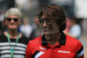 World © Octane Photographic Ltd. Manor Marussia F1 Team MR03 – Roberto Merhi. Sunday 10th May 2015, F1 Spanish GP Formula 1 Paddock, Circuit de Barcelona-Catalunya, Spain. Digital Ref: 1264LB1D0015