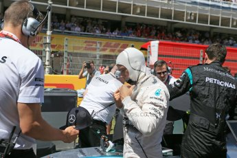 World © Octane Photographic Ltd. Mercedes AMG Petronas F1 W06 Hybrid – Lewis Hamilton. Sunday 10th May 2015, F1 Spanish GP Formula 1 Grid, Circuit de Barcelona-Catalunya, Spain. Digital Ref: 1264LB1D0225