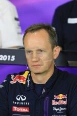 World © Octane Photographic Ltd. Paul Monaghan, Red Bull Racing Chief Engineer. Friday 8th May 2015, F1 Spanish GP. Team Press Conference, Circuit de Barcelona-Catalunya, Spain. Digital Ref: 1254LB7D6761