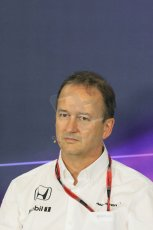 World © Octane Photographic Ltd. Jonathan Neale - McLaren Honda Managing Director. Friday 8th May 2015, F1 Spanish GP. Team Press Conference, Circuit de Barcelona-Catalunya, Spain. Digital Ref: 1254LB7D6766