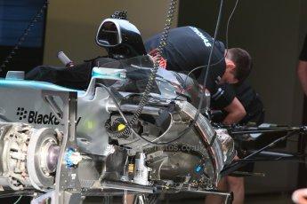 World © Octane Photographic Ltd. Mercedes AMG Petronas F1 W06 Hybrid. Thursday 7th May 2015, F1 Spanish GP Pitlane, Circuit de Barcelona-Catalunya, Spain. Digital Ref: 1244CB7D1277