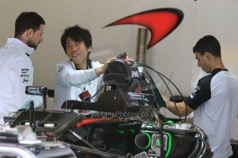 World © Octane Photographic Ltd. McLaren Honda MP4/30. Thursday 7th May 2015, F1 Spanish GP Pitlane, Circuit de Barcelona-Catalunya, Spain. Digital Ref: 1244CB7D1298