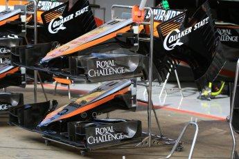 World © Octane Photographic Ltd. Sahara Force India VJM08. Thursday 7th May 2015, F1 Spanish GP Pitlane, Circuit de Barcelona-Catalunya, Spain. Digital Ref: 1244CB7D1305