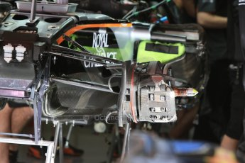 World © Octane Photographic Ltd. Sahara Force India VJM08. Thursday 7th May 2015, F1 Spanish GP Pitlane, Circuit de Barcelona-Catalunya, Spain. Digital Ref: 1244CB7D1314