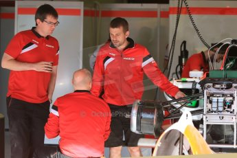 World © Octane Photographic Ltd. Manor Marussia F1 Team. Thursday 7th May 2015, F1 Spanish GP Pitlane, Circuit de Barcelona-Catalunya, Spain. Digital Ref: 1244CB7D1389