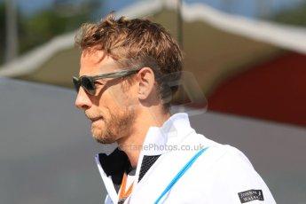 World © Octane Photographic Ltd. McLaren Honda MP4/30 - Jenson Button. Thursday 7th May 2015, F1 Spanish GP Paddock, Circuit de Barcelona-Catalunya, Spain. Digital Ref: 1244CB7D1518