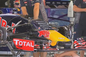 World © Octane Photographic Ltd. Infiniti Red Bull Racing RB11. Thursday 7th May 2015, F1 Spanish GP Pitlane, Circuit de Barcelona-Catalunya, Spain. Digital Ref: 1244CB7D1645