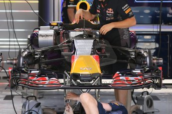 World © Octane Photographic Ltd. Infiniti Red Bull Racing RB11. Thursday 7th May 2015, F1 Spanish GP Pitlane, Circuit de Barcelona-Catalunya, Spain. Digital Ref: 1244CB7D1647