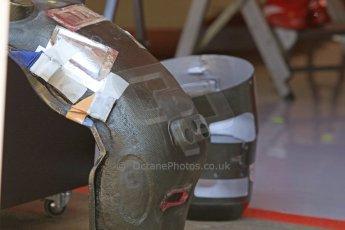 World © Octane Photographic Ltd. Scuderia Ferrari SF15-T– Kimi Raikkonen's seat. Thursday 7th May 2015, F1 Spanish GP Pitlane, Circuit de Barcelona-Catalunya, Spain. Digital Ref: 1244CB7D1668