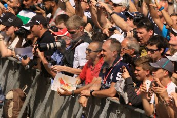 World © Octane Photographic Ltd. The crowds on the pitlane tour. Thursday 7th May 2015, F1 Spanish GP Pitlane, Circuit de Barcelona-Catalunya, Spain. Digital Ref: 1244CB7D5918