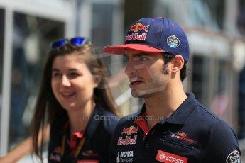 World © Octane Photographic Ltd. Scuderia Toro Rosso STR10 – Carlos Sainz Jnr. Thursday 7th May 2015, F1 Spanish GP Paddock, Circuit de Barcelona-Catalunya, Spain. Digital Ref: 1244LB1D5471