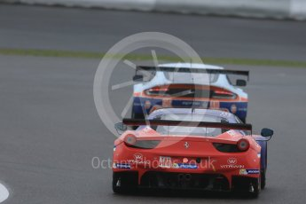 World © Octane Photographic Ltd. FIA World Endurance Championship (WEC), 6 Hours of Nurburgring , Germany - Practice, Friday 28th August 2015. Aston Martin Racing – Aston Martin Vantage GTE - LMGTE Am – Roalde Goethe, Stuart Hall and Francesco Castellacci and AF Corse - F458 Italia GT2 - LMGTE - LMGTE Am – Francois Perrodo, Emmanuel Collard and Rui Aguas. Digital Ref : 1392LB1D3341