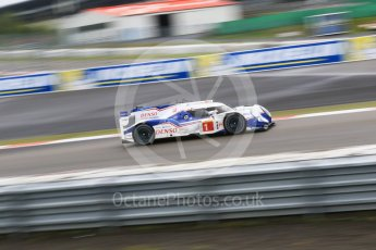 World © Octane Photographic Ltd. FIA World Endurance Championship (WEC), 6 Hours of Nurburgring , Germany - Practice, Friday 28th August 2015. Toyota Racing – Toyota TS040 Hybrid - LMP1 - Anthony Davidson, Sebastien Buemi and Kazuki Nakajima. Digital Ref : 1392LB7D5424